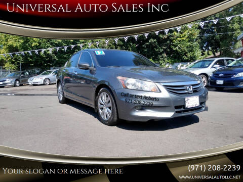 2012 Honda Accord for sale at Universal Auto Sales Inc in Salem OR