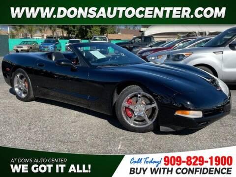 2000 Chevrolet Corvette for sale at Dons Auto Center in Fontana CA