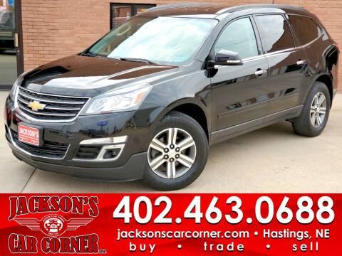 2017 Chevrolet Traverse for sale at Jacksons Car Corner Inc in Hastings NE