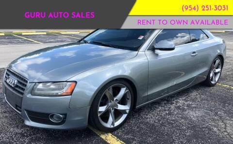 2010 Audi A5 for sale at Guru Auto Sales in Miramar FL