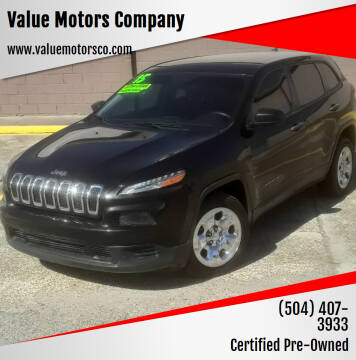 2015 Jeep Cherokee for sale at Value Motors Company in Marrero LA