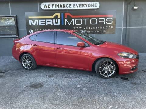 2014 Dodge Dart for sale at Meru Motors in Hollywood FL