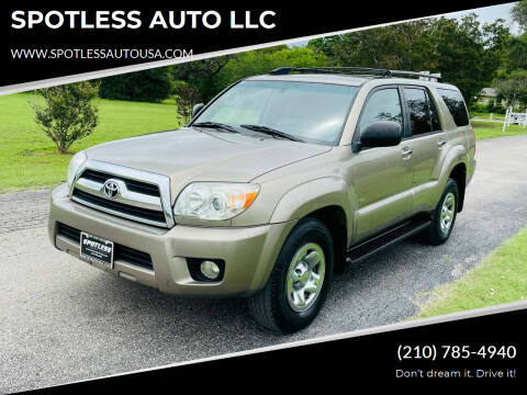 2006 Toyota 4Runner for sale at SPOTLESS AUTO LLC in San Antonio TX
