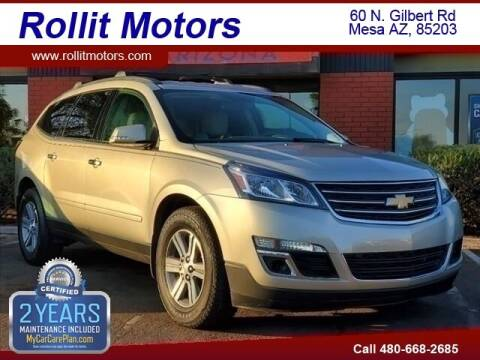 2015 Chevrolet Traverse for sale at Rollit Motors in Mesa AZ