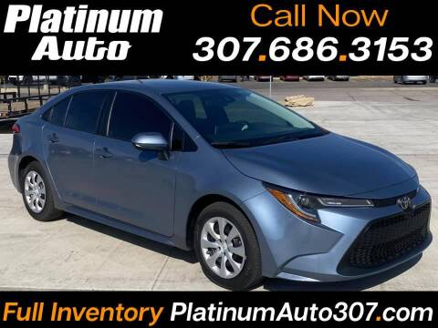 2020 Toyota Corolla for sale at Platinum Auto in Gillette WY
