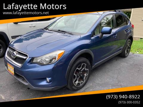 2013 Subaru XV Crosstrek for sale at Lafayette Motors in Lafayette NJ