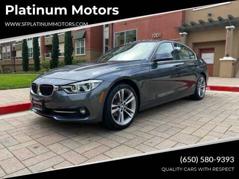2017 BMW 3 Series for sale at Platinum Motors in San Bruno CA