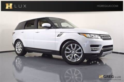 2015 Land Rover Range Rover Sport for sale at HGREG LUX EXCLUSIVE MOTORCARS in Pompano Beach FL