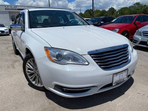2012 Chrysler 200 for sale at KAYALAR MOTORS in Houston TX