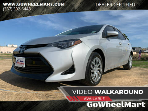 2017 Toyota Corolla for sale at GoWheelMart in Leesville LA