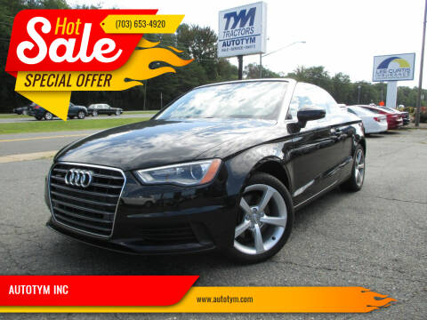 2016 Audi A3 for sale at AUTOTYM INC in Fredericksburg VA