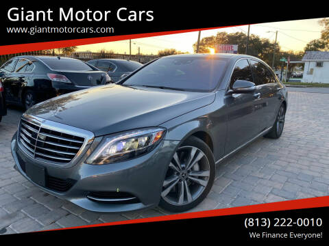 2017 Mercedes-Benz S-Class for sale at Giant Motor Cars in Tampa FL