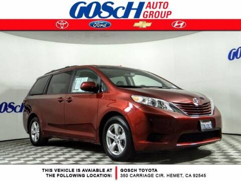 2017 Toyota Sienna for sale at BILLY D SELLS CARS! in Temecula CA