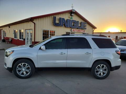 "2016 GMC Acadia for sale at UNIQUE AUTOMOTIVE ""BE UNIQUE"" in Garden City KS"