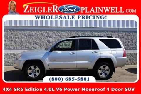 2004 Toyota 4Runner for sale at Zeigler Ford of Plainwell- Jeff Bishop in Plainwell MI