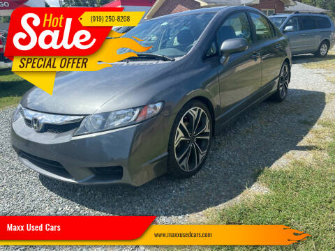2009 Honda Civic for sale at Maxx Used Cars in Pittsboro NC