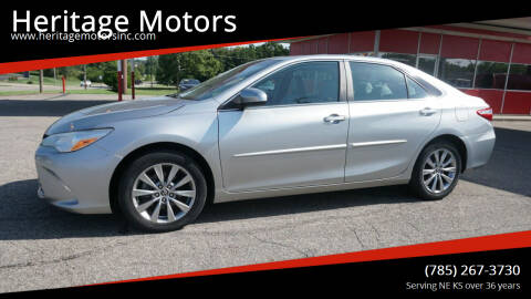 2016 Toyota Camry for sale at Heritage Motors in Topeka KS