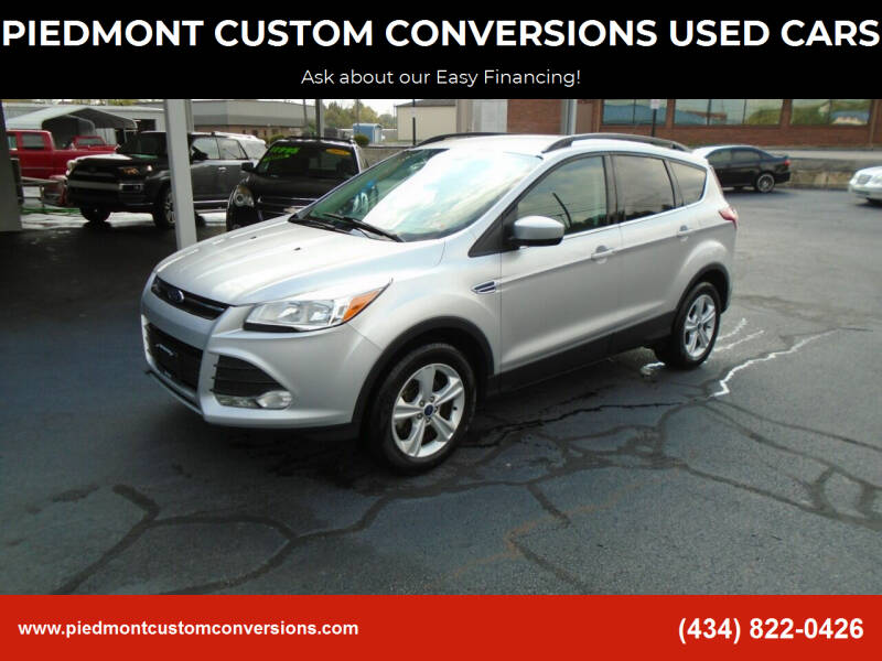 2016 Ford Escape for sale at PIEDMONT CUSTOM CONVERSIONS USED CARS in Danville VA