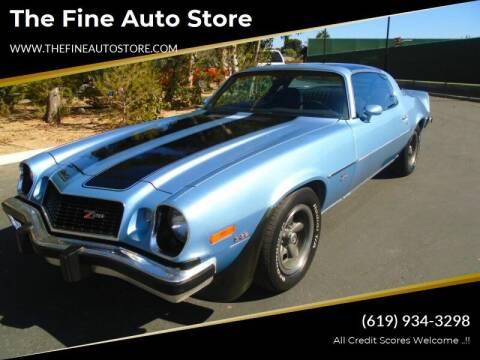 1976 Chevrolet Camaro for sale at The Fine Auto Store in Imperial Beach CA