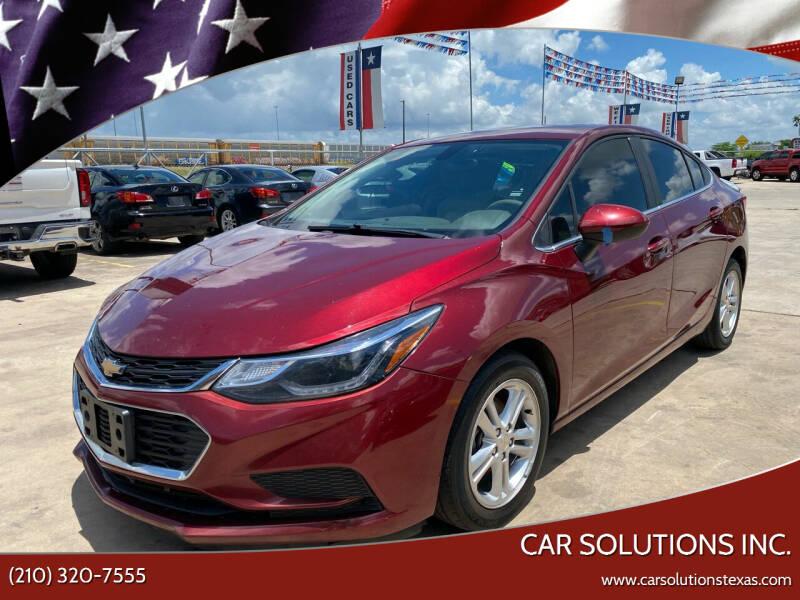2016 Chevrolet Cruze for sale at Car Solutions Inc. in San Antonio TX