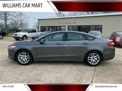 2013 Ford Fusion for sale at WILLIAMS CAR MART in Gassville AR