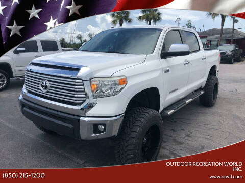 2014 Toyota Tundra for sale at Outdoor Recreation World Inc. in Panama City FL