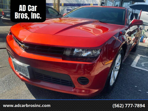 2015 Chevrolet Camaro for sale at AD Car Bros, Inc. in Whittier CA