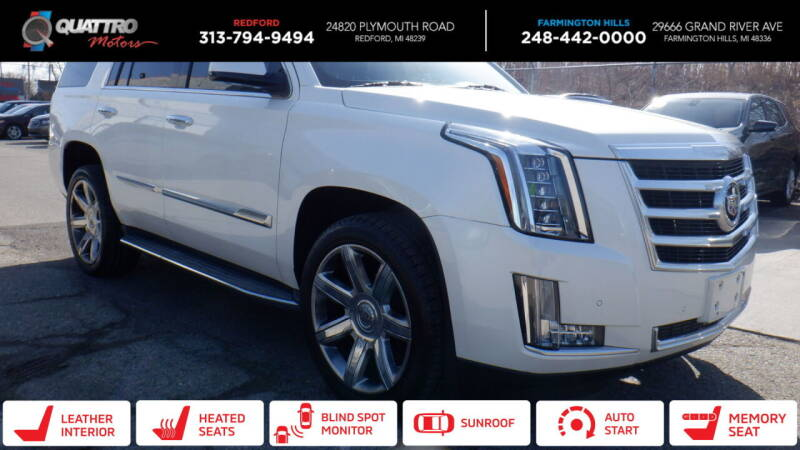 2015 Cadillac Escalade for sale at Quattro Motors 2 - 1 in Redford MI