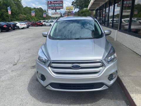 2018 Ford Escape for sale at J Franklin Auto Sales in Macon GA