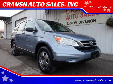 2010 Honda CR-V for sale at CRANSH AUTO SALES, INC in Arlington TX