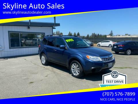 2011 Subaru Forester for sale at Skyline Auto Sales in Santa Rosa CA