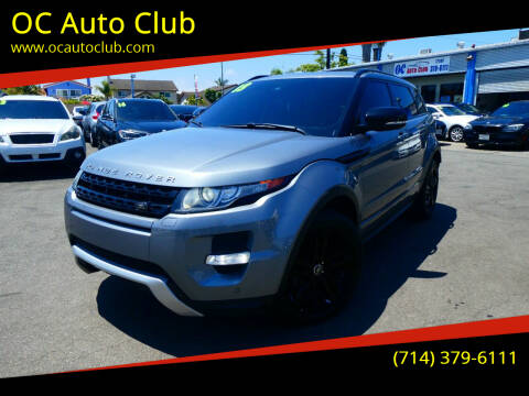 2013 Land Rover Range Rover Evoque for sale at OC Auto Club in Midway City CA