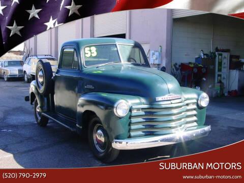 1953 Chevrolet 3100 for sale at Suburban Motors in Tucson AZ