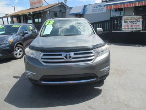 2012 Toyota Highlander for sale at Quick Auto Sales in Modesto CA