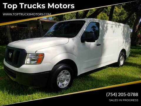 2015 Nissan NV Cargo for sale at Top Trucks Motors in Pompano Beach FL