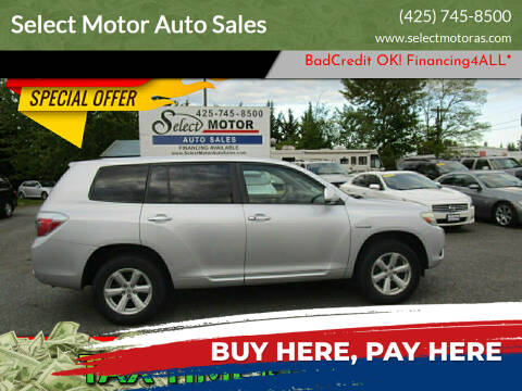 2009 Toyota Highlander Hybrid for sale at Select Motor Auto Sales in Lynnwood WA