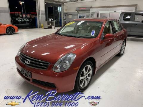 2006 Infiniti G35 for sale at KEN BARRETT CHEVROLET CADILLAC in Batavia NY