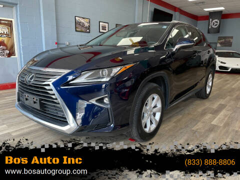 2016 Lexus RX 350 for sale at Bos Auto Inc in Quincy MA