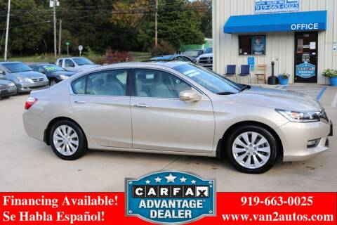 2013 Honda Accord for sale at Van 2 Auto Sales Inc in Siler City NC
