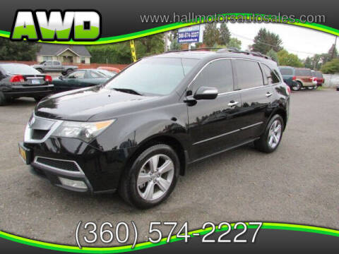 2011 Acura MDX for sale at Hall Motors LLC in Vancouver WA