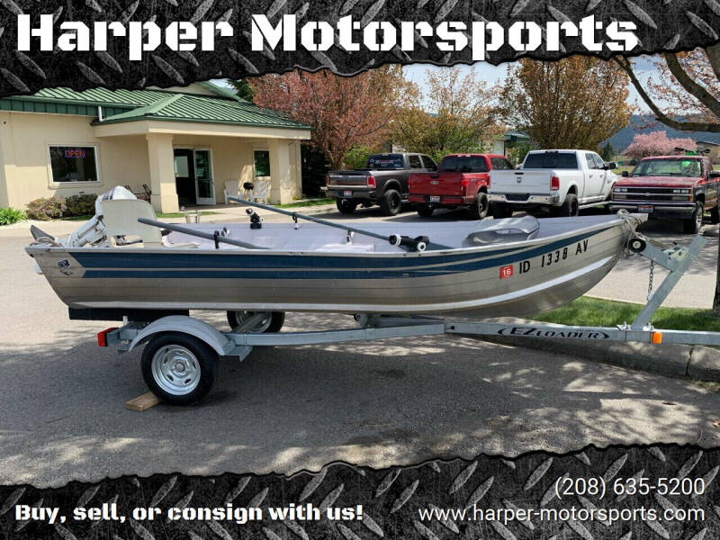 1987 Trophy Aluminum 12ft With 15 Hp for sale at Harper Motorsports-Powersports in Post Falls ID