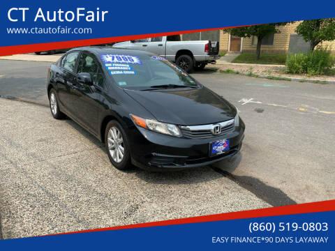 2012 Honda Civic for sale at CT AutoFair in West Hartford CT