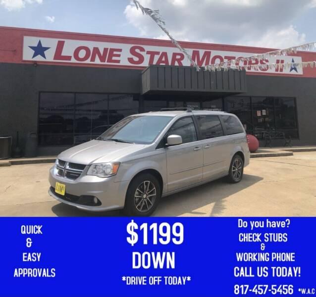 2017 Dodge Grand Caravan for sale at LONE STAR MOTORS II in Fort Worth TX