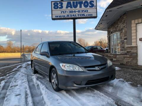 2004 Honda Civic for sale at 83 Autos in York PA