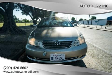2008 Toyota Corolla for sale at Auto Toyz Inc in Lodi CA
