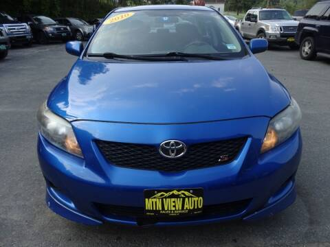 2010 Toyota Corolla for sale at MOUNTAIN VIEW AUTO in Lyndonville VT