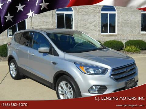 2017 Ford Escape for sale at C.J. Lensing Motors Inc in Decorah IA
