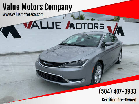 2015 Chrysler 200 for sale at Value Motors Company in Marrero LA