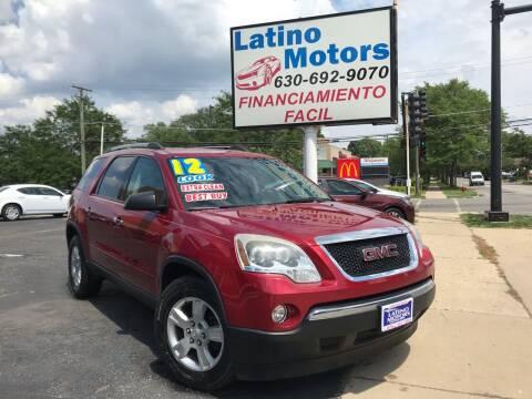 2012 GMC Acadia for sale at Latino Motors in Aurora IL