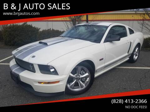 2007 Ford Mustang for sale at B & J AUTO SALES in Morganton NC